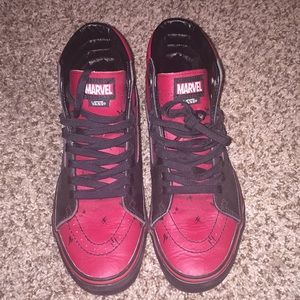 Deadpool High Vans (only worn once) Unisex
